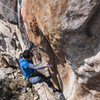 Zach in the meat of the crux.