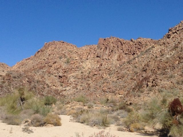 A closer view of Butterbags Buttress, Joshua Tree NP