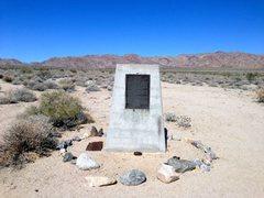 Rock Climbing Photo: Camp Young Historical Monument, Joshua Tree NP