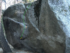 Rock Climbing Photo: Problem C on AH Boulder