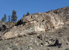 Rock Climbing Photo: Lower South Face from the South