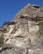 Rock Climbing Photo: Desperate Straights topo