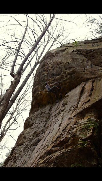 Rock Climbing Photo: Just keep moving through the steep part.  The hold...