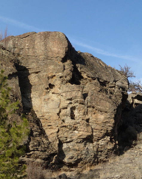 Right end of Kiva Cliff
