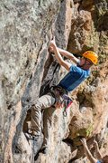 Rock Climbing Photo: Steep, water-polished and streaked rock on Explodi...