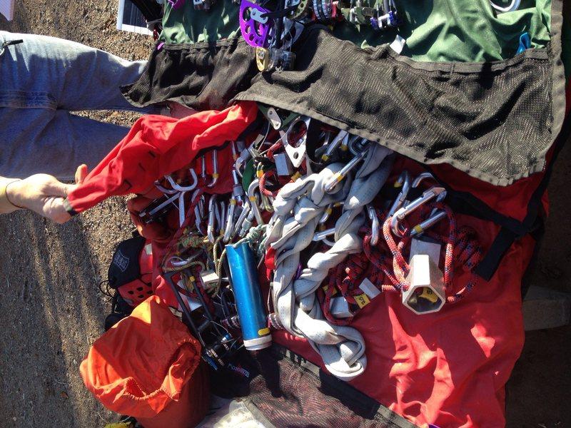 Rock Climbing Photo: Racks on racks