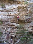 Rock Climbing Photo: Jon on pitch 1