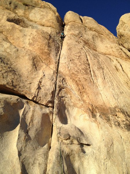 Rock Climbing Photo: Joshua Tree - April 2013  My friend and adventure ...