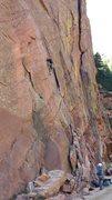 Rock Climbing Photo: Bastille Crack-Eldorado Canyon