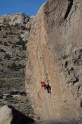 Rock Climbing Photo: The V11 section ends at this hueco, which marks th...