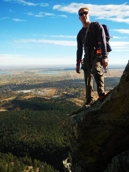 Rock Climbing Photo: Top of the 3rd FlatIron