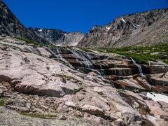 Rock Climbing Photo: The traverse circles this basin.