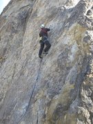 """Rock Climbing Photo: Leading """"Cupid's Fever."""""""