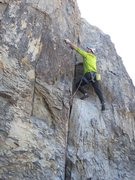 Rock Climbing Photo: Working up the littler red book section on My Bloo...