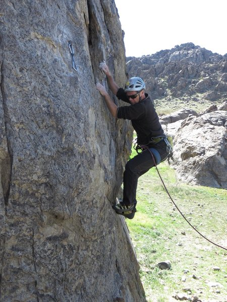 """Rock Climbing Photo: Making the opening moves on """"Cupid's Fever.&q..."""