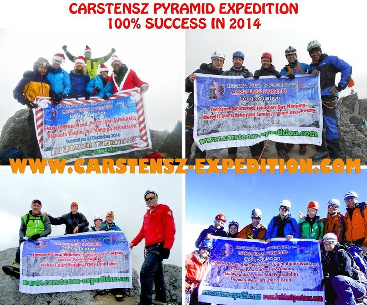 Carstensz pyramid 100% success in 2014