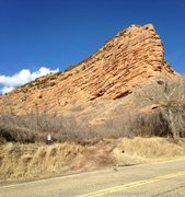 Rock Climbing Photo: The dirt road off of Echo Canyon Road leading into...