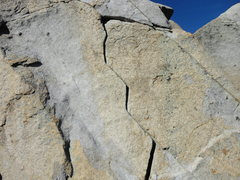 Rock Climbing Photo: Looking directly at Zig Zag Crack from near the st...