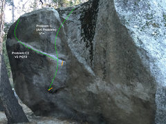 Rock Climbing Photo: North side of AH Boulder