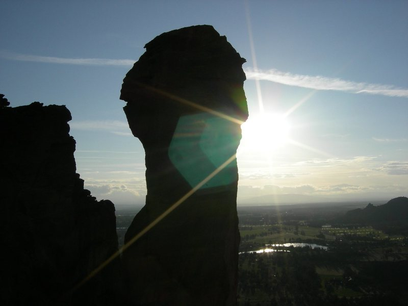 Rock Climbing Photo: Monkey Face in the afternoon