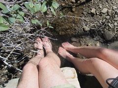 Rock Climbing Photo: NE Arete via Pine Creek Canyon. Long hike in and o...