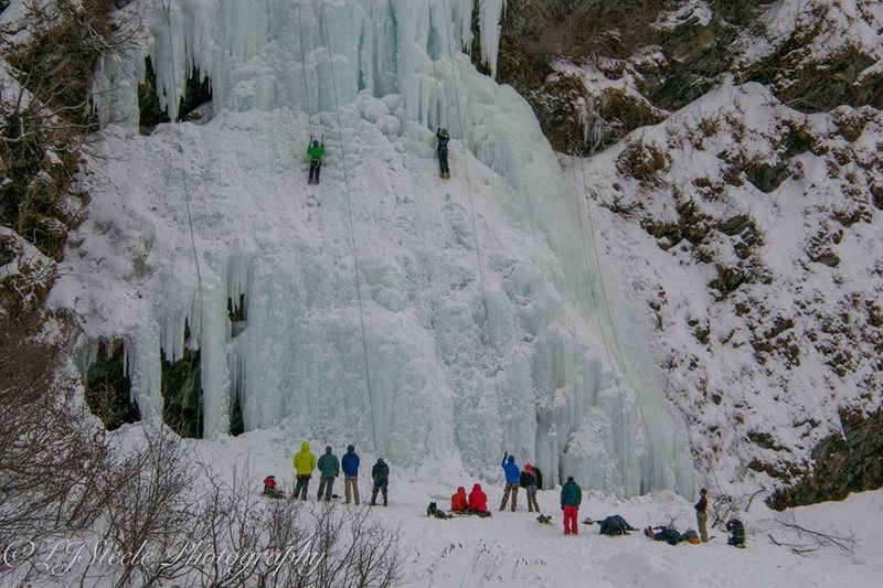 Cragin at Bridalvail Falls during the 2015 VIF. Thanks for the music at the wall APU :)<br>