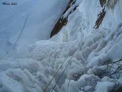 Rock Climbing Photo: Day 4:the day of the truth, at the last part of th...
