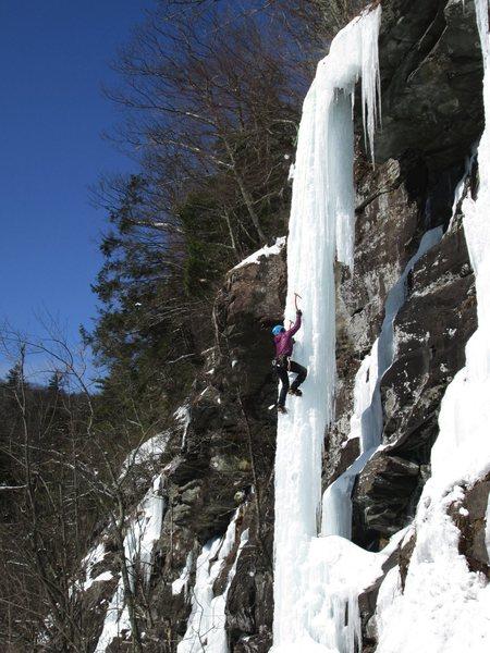 Rock Climbing Photo: Polar Vortex Pillar