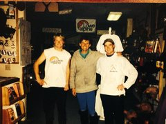 Rock Climbing Photo: Russ, George Gardner and me after our first day of...
