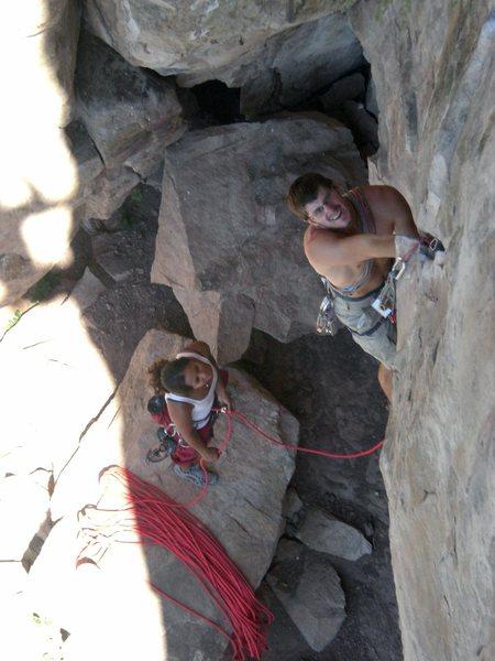 Rock Climbing Photo: Texas-racing backward into the future.