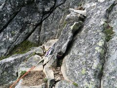 Rock Climbing Photo: A col rappel