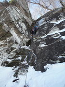Rock Climbing Photo: I put in my second and third piece from that stanc...
