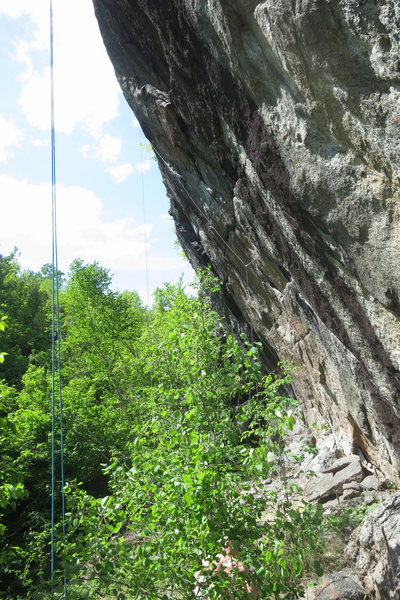 Right side of The Crown, with ropes on several routes.