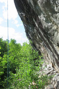 Rock Climbing Photo: Right side of The Crown, with ropes on several rou...