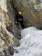 Rock Climbing Photo: Zac transitioning to the rock.