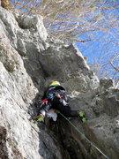 Rock Climbing Photo: At the (nonexistent) pillar.