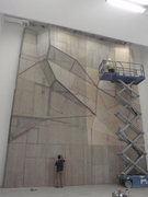 Rock Climbing Photo: Sheeting the structure and stapling the steel mesh...