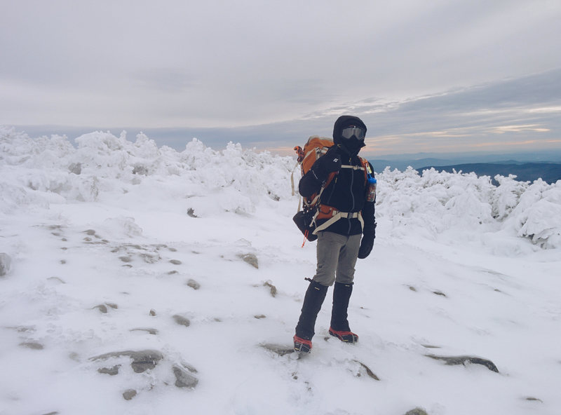 Rock Climbing Photo: Myself on Mt. Moosilauke - 20 below zero, 50MPH wi...