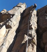 "Rock Climbing Photo: Josh Darnell on ""Rising Passion"" nearing..."