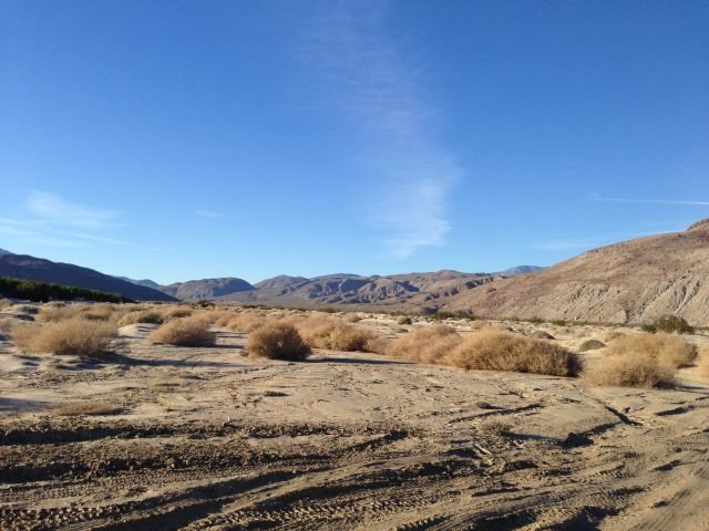 The mouth of Lower Coyote Canyon, Anza Borrego SP