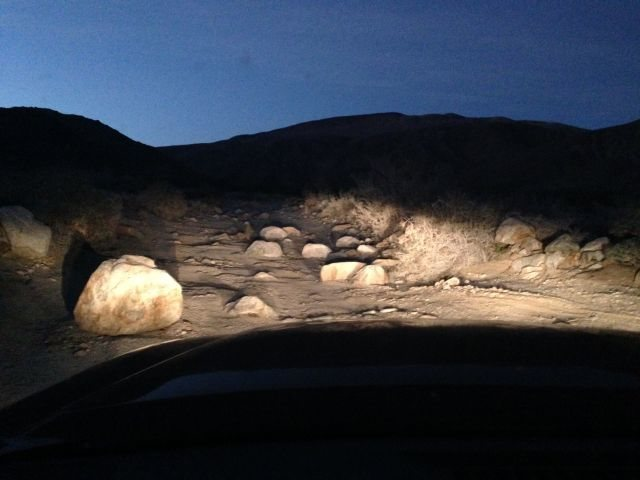 The road through Collins Valley in Lower Coyote Canyon, Anza Borrego SP
