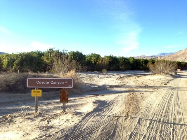 Starting into Lower Coyote Canyon, Anza Borrego SP