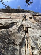 Rock Climbing Photo: getting some aid practice in because the route was...