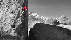 Rock Climbing Photo: Another shot of the shark fin with the high sierra...