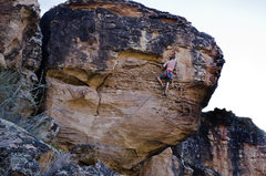 Rock Climbing Photo: The juggy top section.