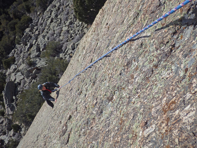 The beautiful expanse of rock on the 2nd pitch..... Enjoy.