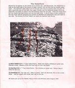 Rock Climbing Photo: My original 1999 topo of the routes.