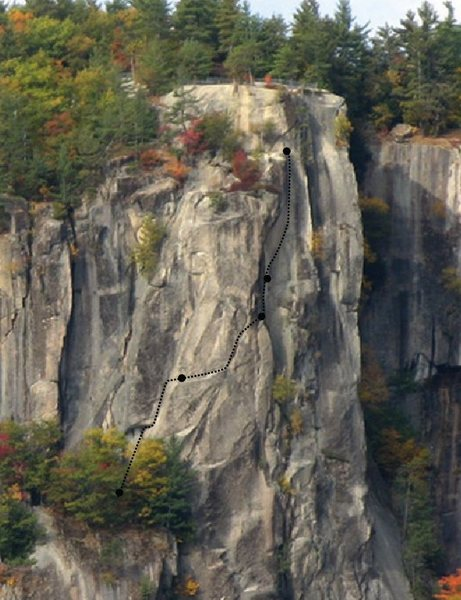 Rock Climbing Photo: Route and belays