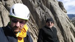Rock Climbing Photo: Top of the Bookmark- Lumpy Ridge in Feb with Mike ...