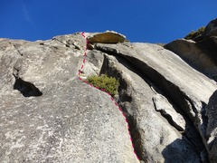 Rock Climbing Photo: Follow cracks and corners and turn the roof on the...